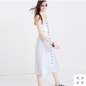 Madewell Button Front Midi Dress